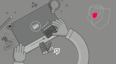 vídeo com animação